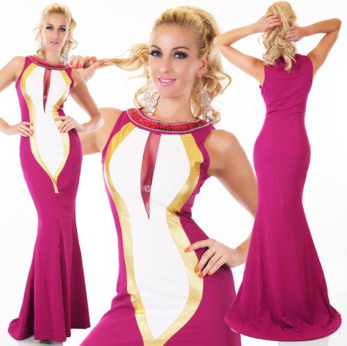 Damen Abendkleid Lang Maxikleid Ballkleid Fest Bodenlang Schleppe Meerjungfrau