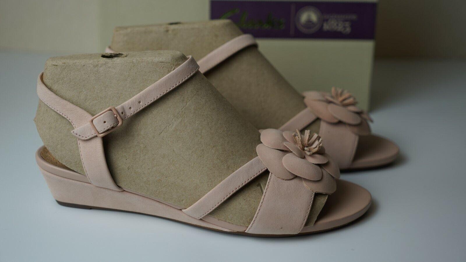 Clarks Chaussures Femme Parram Stella UK6E Dusty Rose Nouveau Sandales boxed excellent