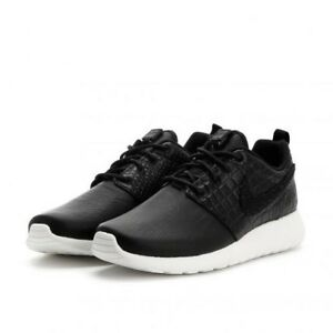 Wms Nike Roshe One LX Leather UK 6.5 EUR 40.5 New Black White 881202 001