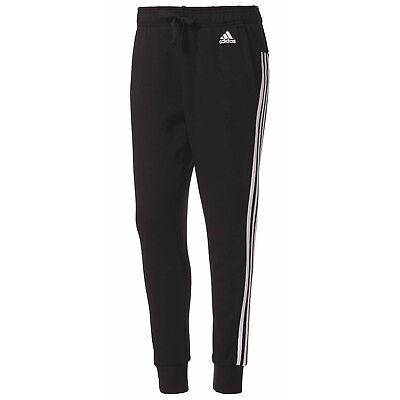 adidas Essentials 3-Stripe Tapered Hose Damen Jogginghose Sporthose Fitnesshose