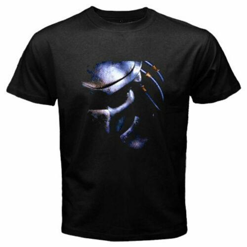 New Predator Mask 90/'s Movie Classic Logo Men/'s Black T-Shirt Size S to 5XL