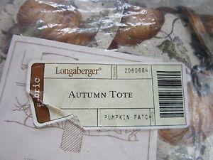 Longaberger Small Recipe Basket Autumn Path Liner Fabric