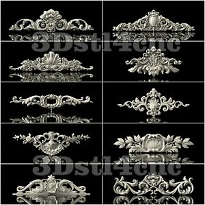 10-3D-STL-Models-Decor-Elements-for-CNC-Router-Carving-Machine-Artcam-aspire