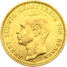 N218) J.224 HESSEN 10 Mark 1898 A Ernst Ludwig 1892-1918 Gold