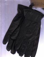 Brand Ladies Black Leather Gloves (size Medium-large/lined)
