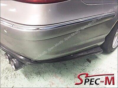 Carbon Fiber Rear Bumper Diffuser Quad 4 Tips fits Mercedes W211 Sedan E63 AMG