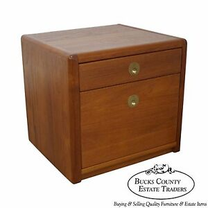 Image Is Loading Danish Modern Teak Small Cube File Cabinet