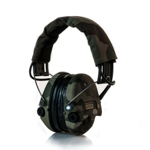 MSA Sordin Supreme Pro X LED Camo Gehörschutz mit Gelkissen und AUX-Eingang
