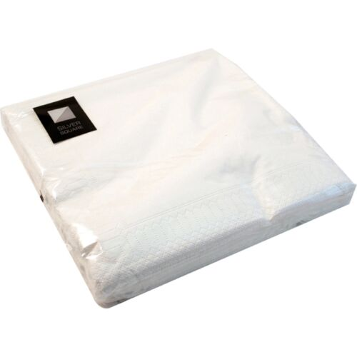 3 Ply White Paper Napkins 40 x 40cm Square Party Serviettes Tableware Catering