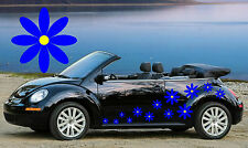 32,NEW BLUE & YELLOW DAISY CAR DECALS,STICKERS,GRAPHICS,BEETLE