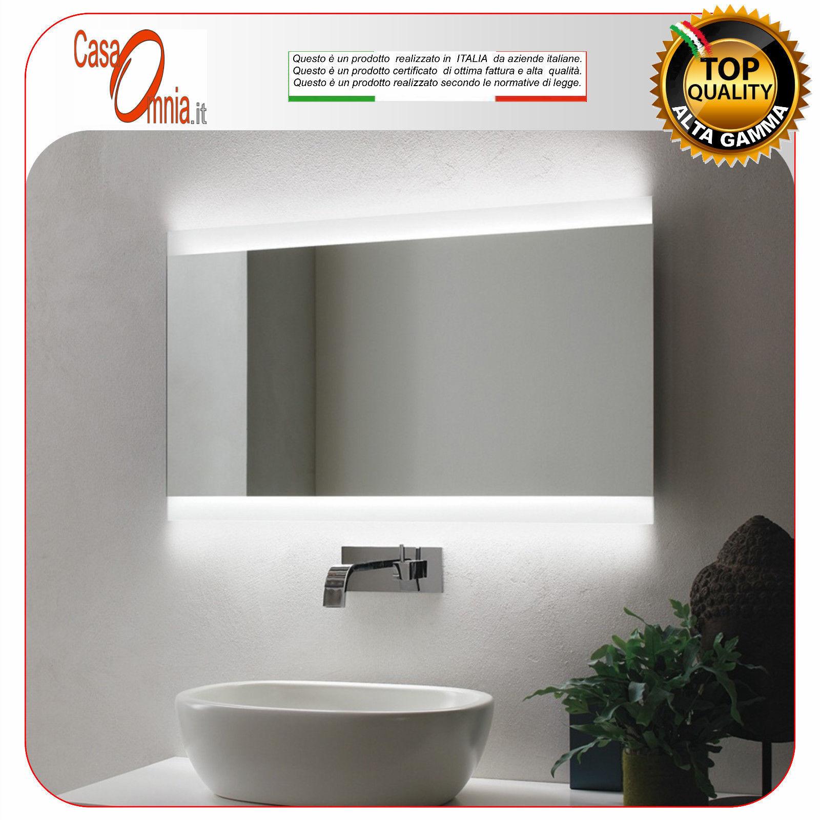 Miroir de salle de bain led-anti-brouillard-bleutooth - v&c vela
