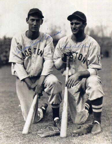 BOBBY DOERR Signed Photograph American Baseball Legends preprint TED WILLIAMS