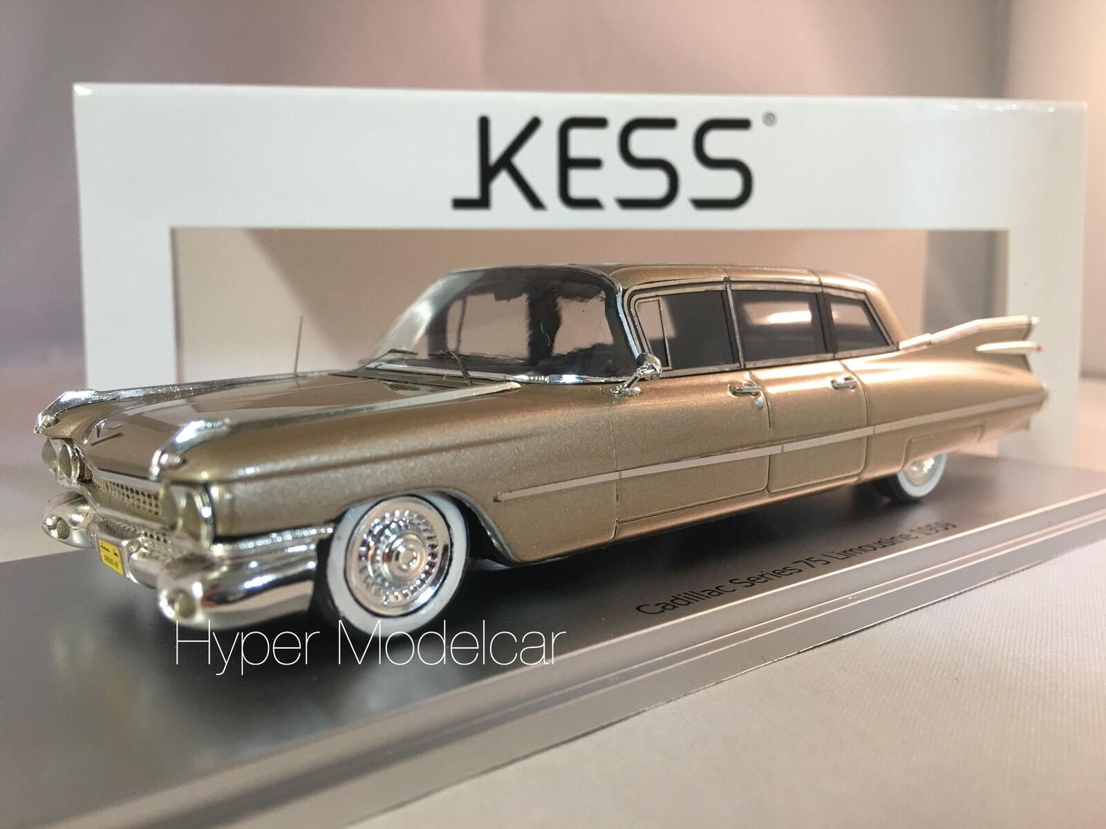 KESS MODEL 1 43 CADILLAC SERIES 75 LONG LIMOUSINE 1959 Gold MET. ART. KE43020002