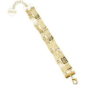 LIU-JO-LUXURY-LJ746-Bracciale-donna-dorato-laminato-braccialetto-oro-gold-moda