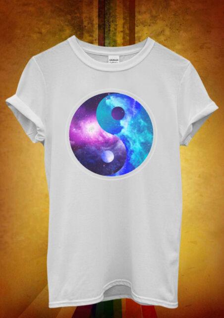 Ying Yang Galaxy Space Cool Hipster Men Women Unisex T Shirt Tank Top Vest 450