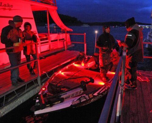 Pro-Tournament Bass boat deck éclairage avant et arrière DEL Kit de 4 Pique Coton-Stratos//Ranger