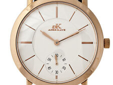 Adee Kaye Men's Ip Rose Gold Plated Stainless Steel Mechanical Watch AK7236-M