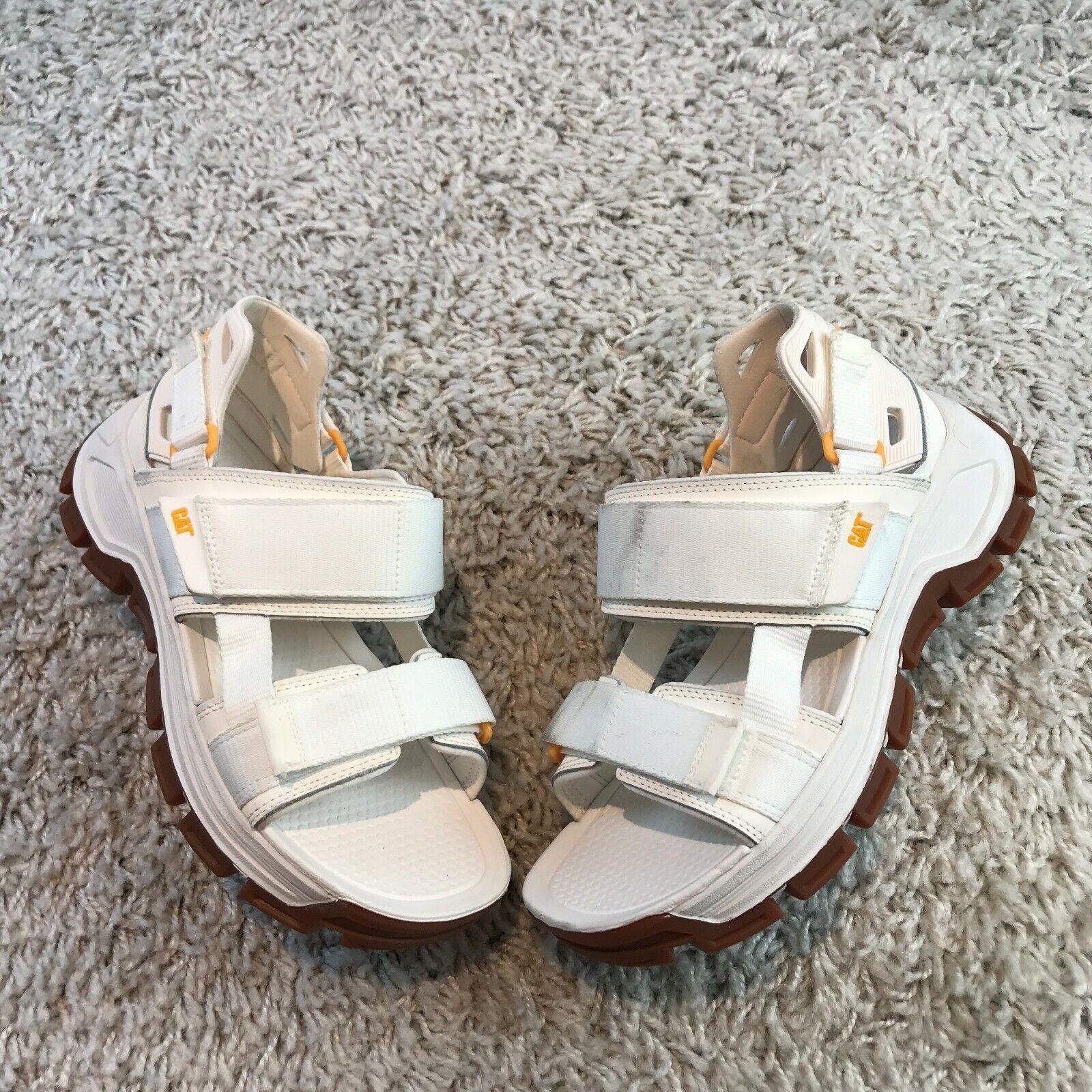 NEW Caterpillar Progressor Mens Shoes UK 7 Eur 41 White Leather Gladiator Sandal