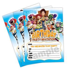 Détails Sur 20 X Toy Story 4 Invitations Fête Danniversaire Invitations Cartes Enfants Filles Garçons Afficher Le Titre Dorigine