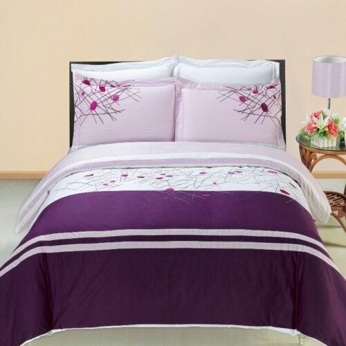 Cherry Embroidered Multi Piece Duvet Cover Sets 100/% Cotton 300 TC