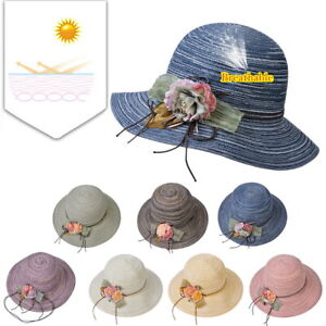 9f478f76ab09d Women Ladies Summer Wide Brim Cotton Hat Floppy Causal Beach Sun ...