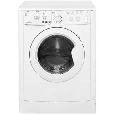 Indesit IWDC6125 Eco Time Free Standing 6Kg 1200 Spin Washer Dryer White New