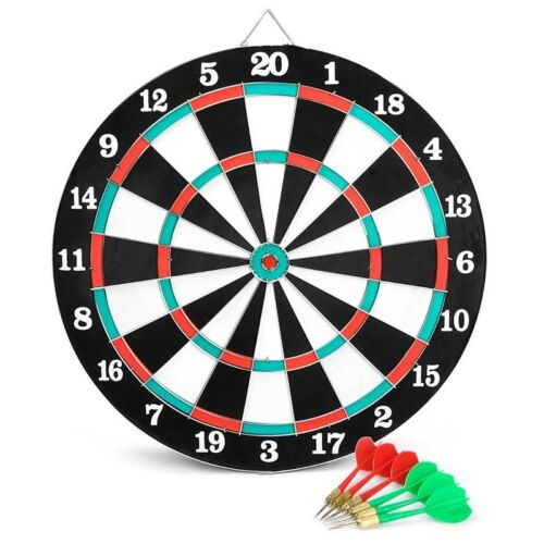 Dart Game Gioco Tirassegno Bersaglio Con 6 Freccette Da Muro Diametro 38 cm