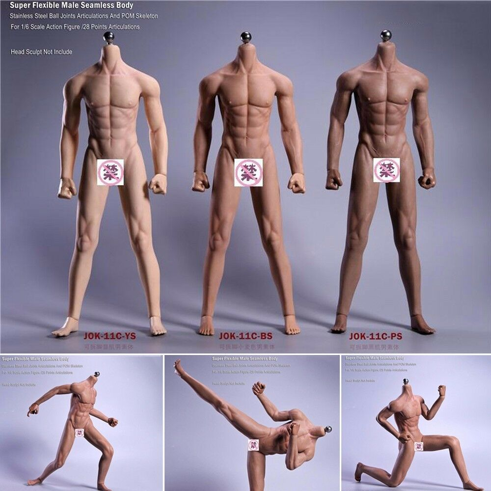 JIAOU DOLL 1/6 Super Flexible Seamless Male Body Model Toys 12'' Action Figure