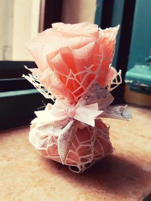 20 Sacchetti Confetti Rustici Hand Made Bomboniera Matrimonio Battesimo Pizzo