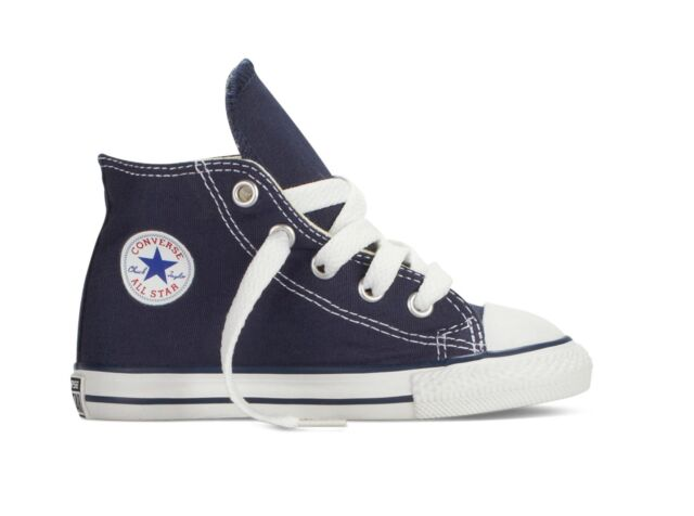 8a38958b5af Converse All Star Hi Toddler Infant Chucks Trainers Shoes 9 Navy ...