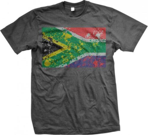 Republic of South Africa Spatter Flag South African Pride Mens T-shirt