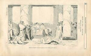Antoine et Cléopâtre après la bataille d'Actium / Jean Gigoux GRAVURE PRINT 1838 - France - Antoine and Cleopatra after the Battle of Actium by Jean Gigoux Painter France Article Complet ANTIQUE PRINT GRAVURE 100 % DÉPOQUE 1838 PORT GRATUIT EUROPE A PARTIR DE 4 OBJETS BUY 4 ITEMS AND EUROPE SHIPPING IS FREE Il s'agit d'un fragment de p - France