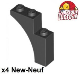Lego 4x Brique Brick Arche Arch 1x3 pont gris foncé//dark bluish gray 4490 NEUF