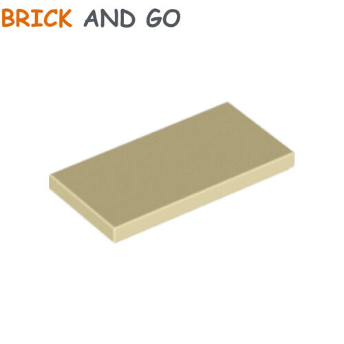 beige 2x4 flat tile 2 x 87079 lego plate smooth tan new new