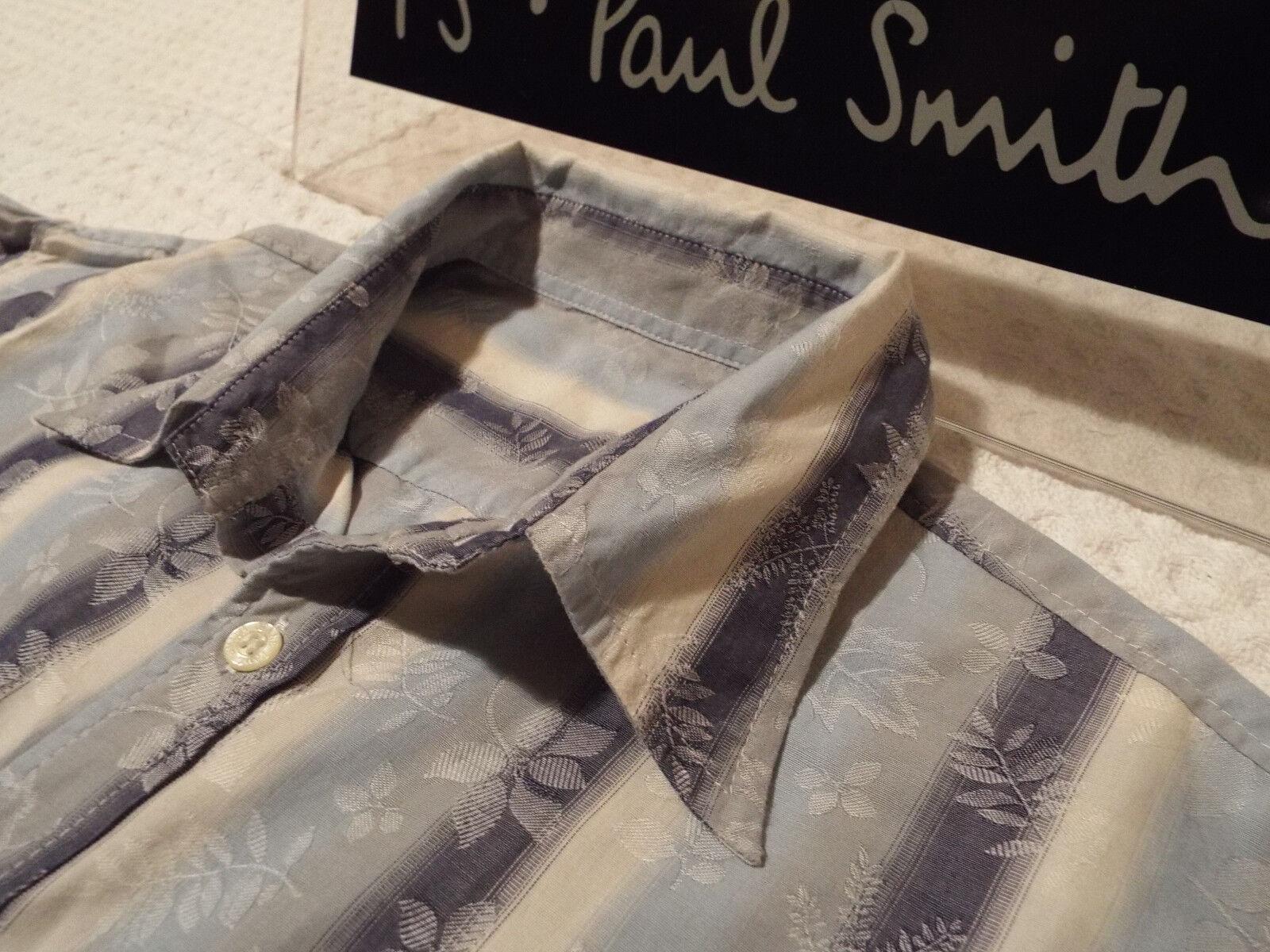 PAUL SMITH Mens Shirt  Size M (CHEST 42 )  RRP +  FLORAL JACQUARD