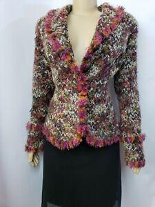Joseph Ribkoff Multicolor Fury Designer Women's Veston Jacket Blazer Sz 14 #C
