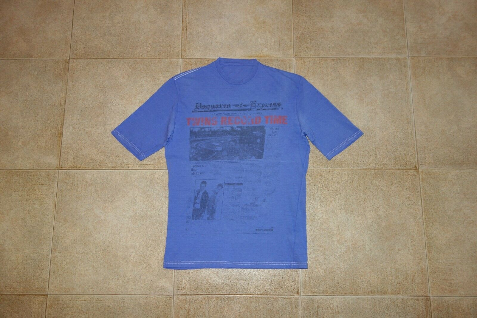 Dsquared² Runway TWINS RECORD TIME Cotton-Canapa T-shirt M SS 08 71GC331, RARE