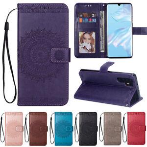 Coque-Etui-Portefeuille-Cuir-pochette-Housse-FLIP-COVER-Huawei-P20-P30-PRO-LITE