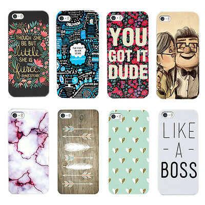 Hot Various Pattern Skin Hard Back Case Cover For Apple iPhone 5 5S 5C 6 4.7""