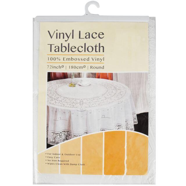 70in Round Embossed Vinyl Table Cover For Home Caffe Restaurant Ebay