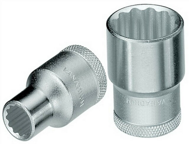 Steckschlüsseleinsatz 1/2 Zoll SW 11mm Gesamt-L.38,0mm 12-KT CV Stahl UD-Profil