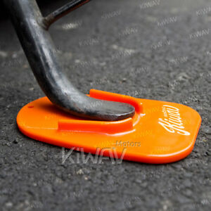 motorcycle kickstand pad support orange anti sinking soft ground USA STOCK