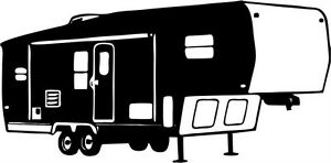 Image Is Loading Camping 5th Wheel Camper Car Truck Window Wall