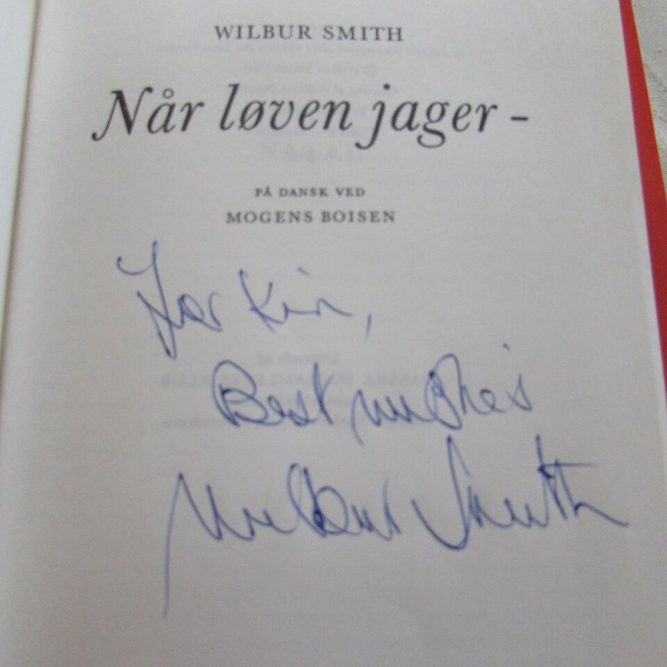 Autografer, Wilbur Smith