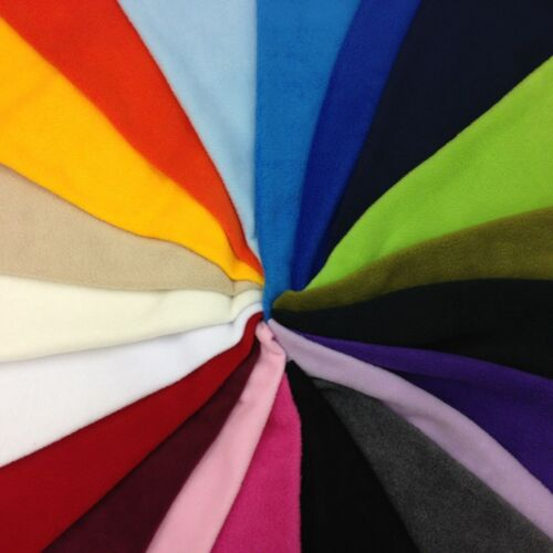 ANTI-PILL FLEECE FABRIC polyester washable in 14 NEW COLOURS Width 150 cm