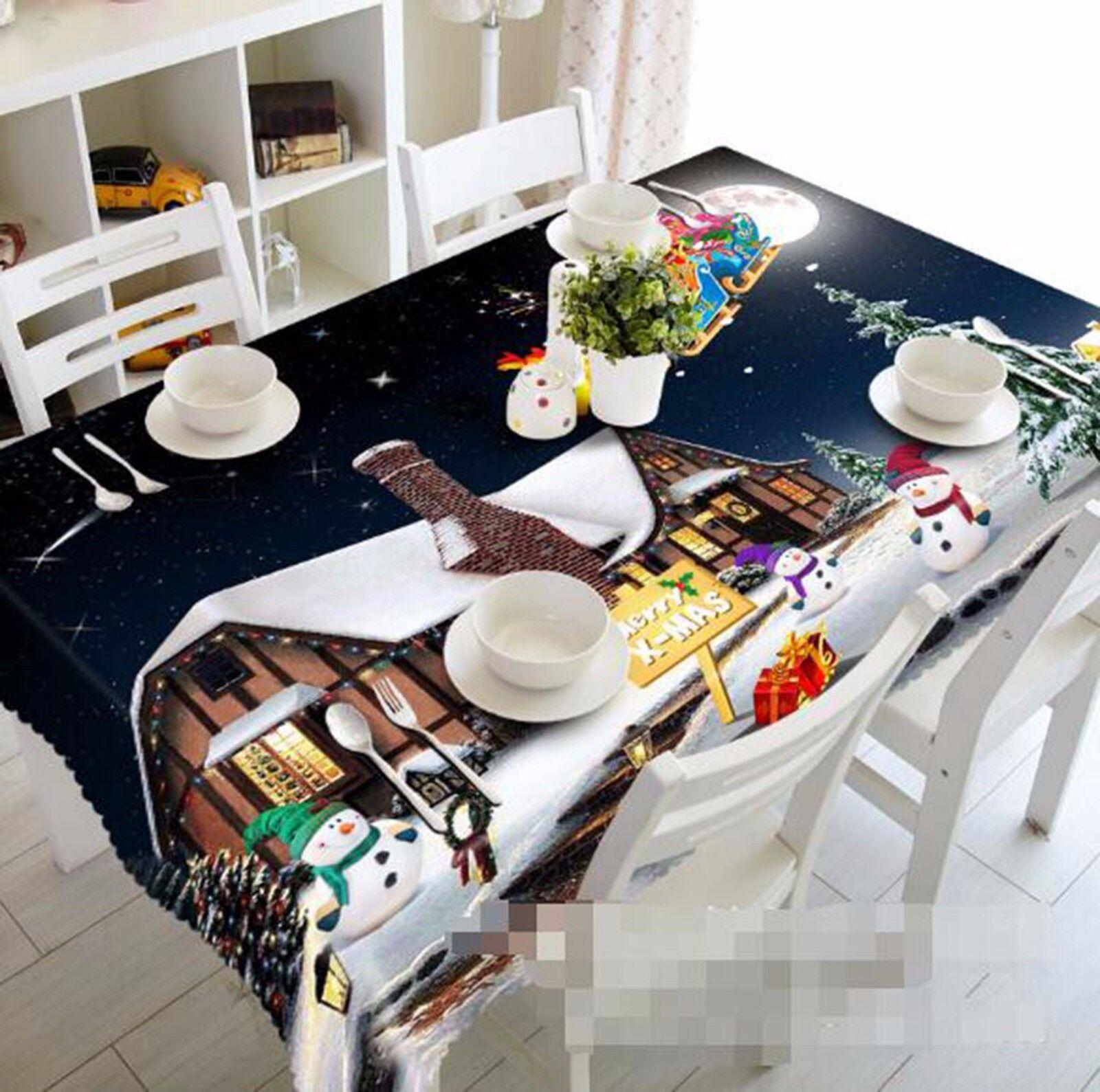 3D House Sky 6 Nappe Table Cover Cloth fête d'anniversaire AJ papier peint Royaume-Uni Citron