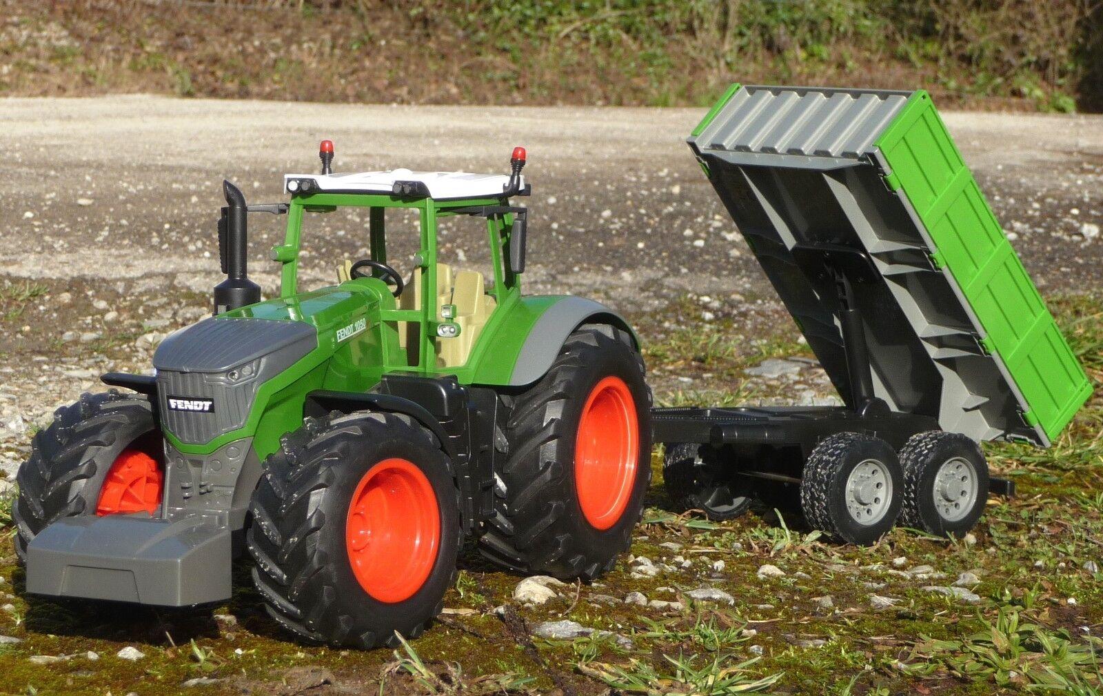 RC Traktor FENDT 1050 mit KIPP-ANHÄNGER in 1 16  2,4 GHz TOP QUALITÄT      412-2