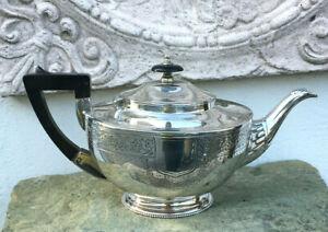 Antike englische Teekanne Jugendstil Aladin Kanne Sheffield Queen Anne Tülle