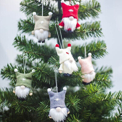 Plush Gnome Doll Christmas Pendant Ornament With Hanging String Home Party Decor