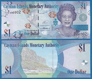 2010 LOT Cayman Islands 1 Dollar p38d//Prefix D4 x 5 PCS UNC